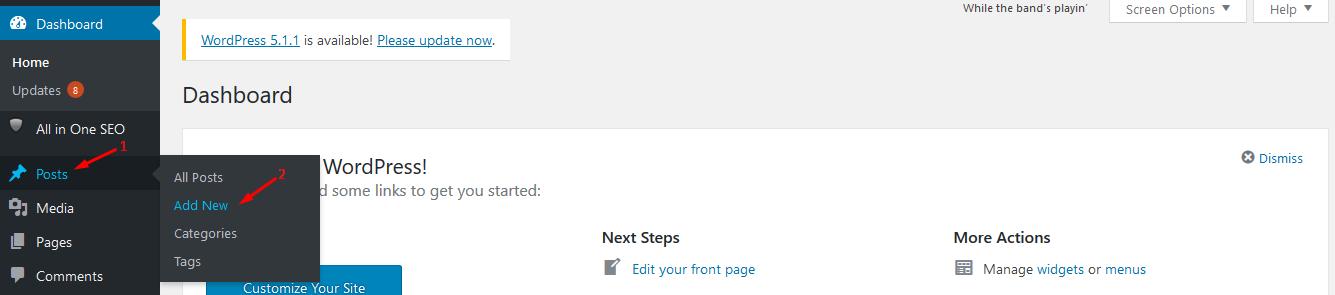 How to post on WordPress?