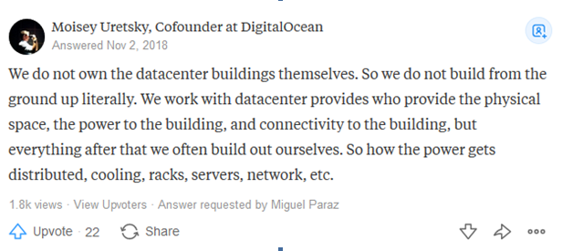 DigitalOcean data center location