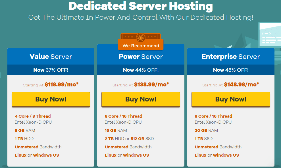 Hostgator hosting dedicated server