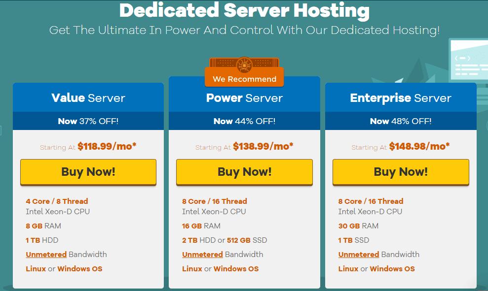 Hostgator hosting dedicated server