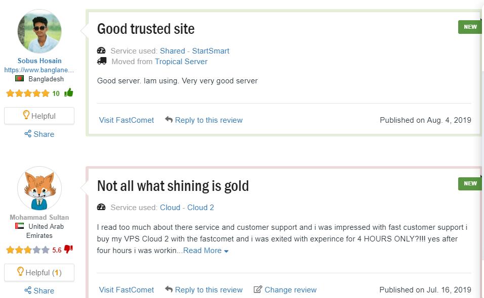 fastcomet user review