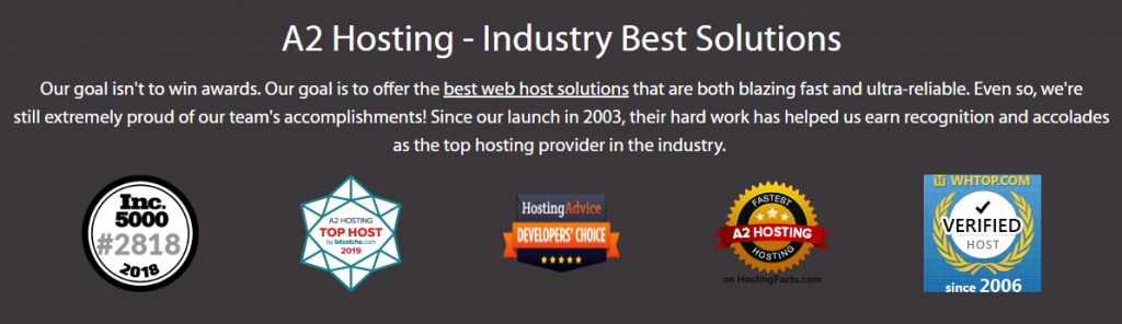 why choose a2hosting