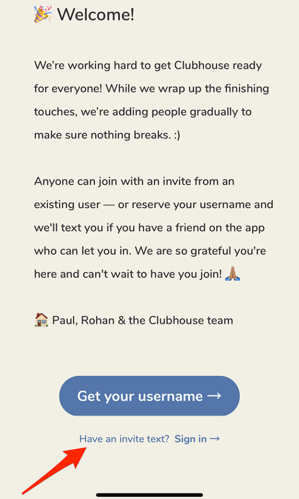 How do I get a Clubhouse Invite?