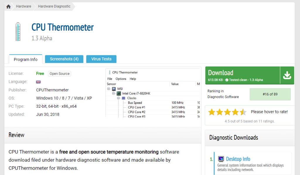 Best CPU Temperature Monitor: CPU Thermometer