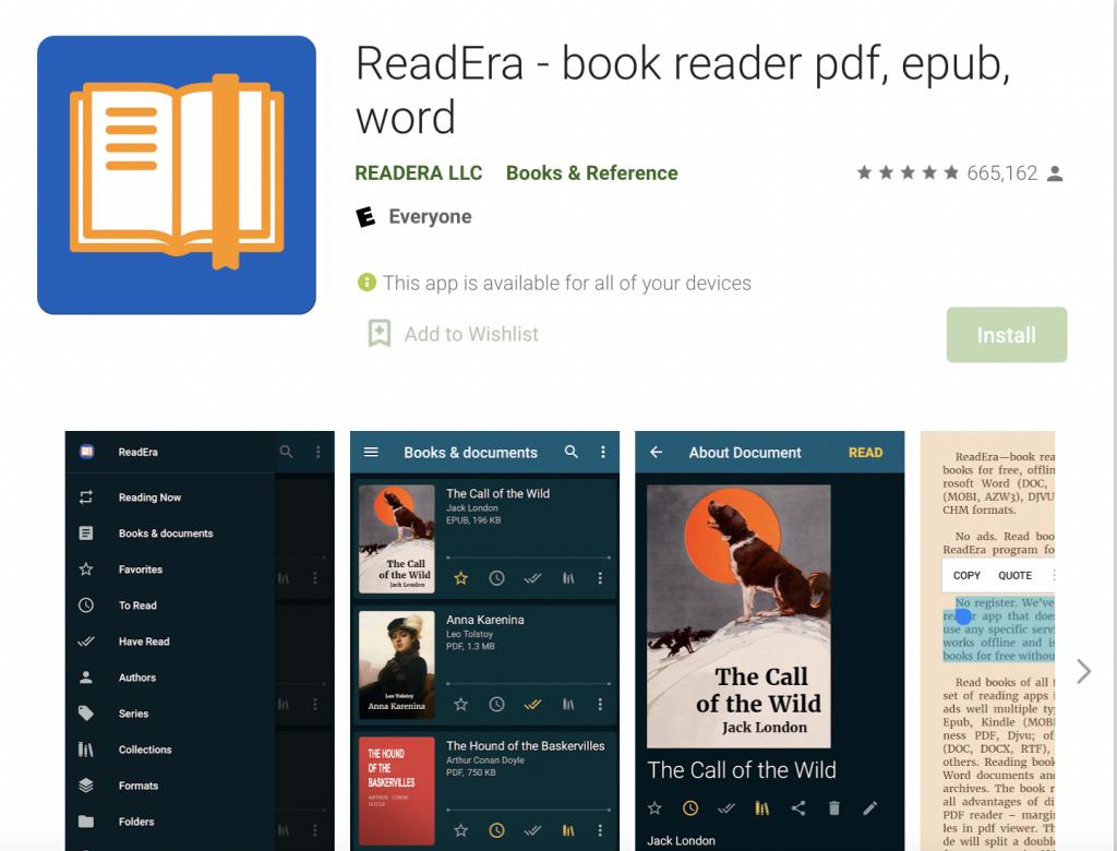 Readera best epub reader
