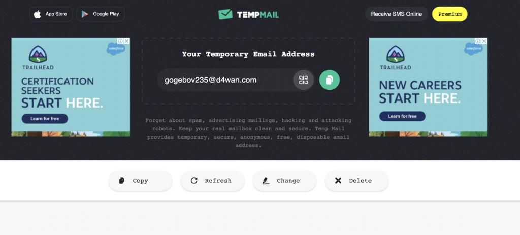 tempmail fake email generator