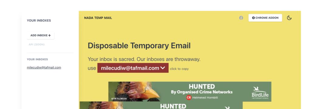 Getnada fake email generator