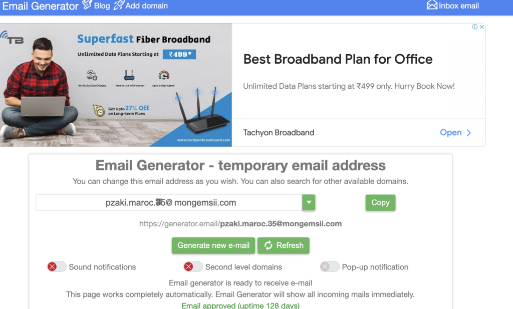 Generator email