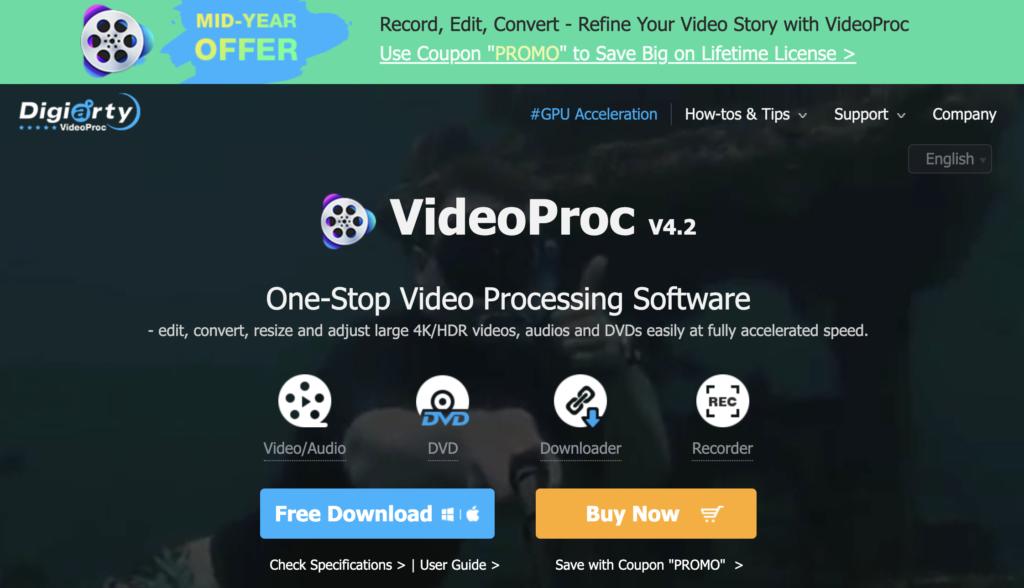 VideoProc free YouTube playlist downloader