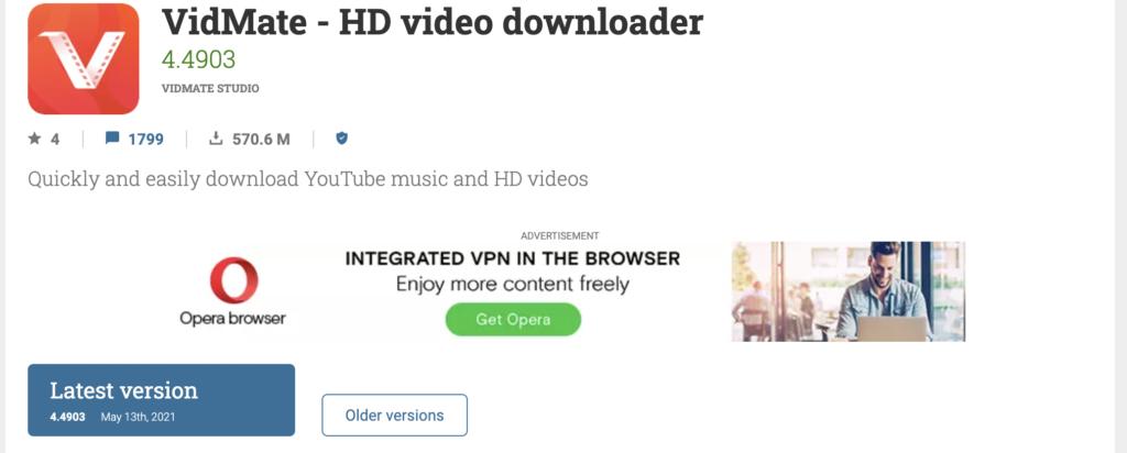 VidMate- HD Video Downloader free youtube playlist downloader
