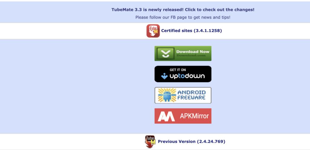 TubeMate YouTube downloader free YouTube playlist downloader