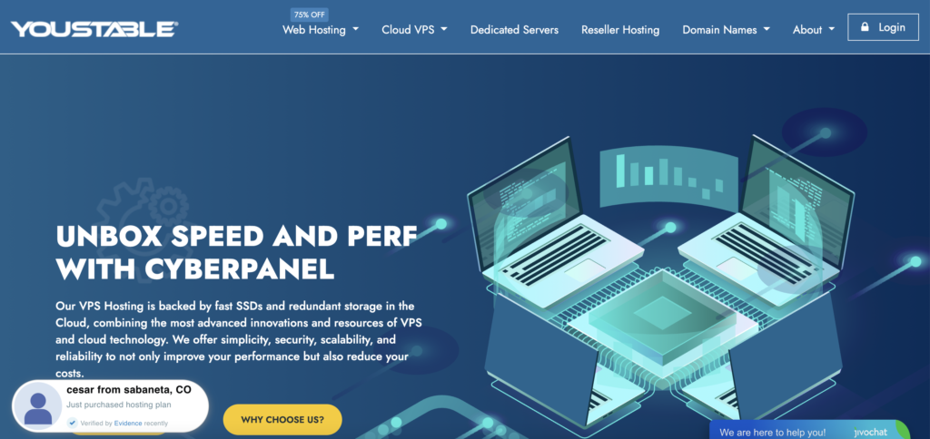 youstable Free VPS trial