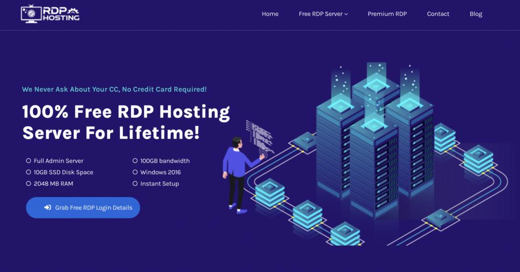rdphostings.cm free rdp server