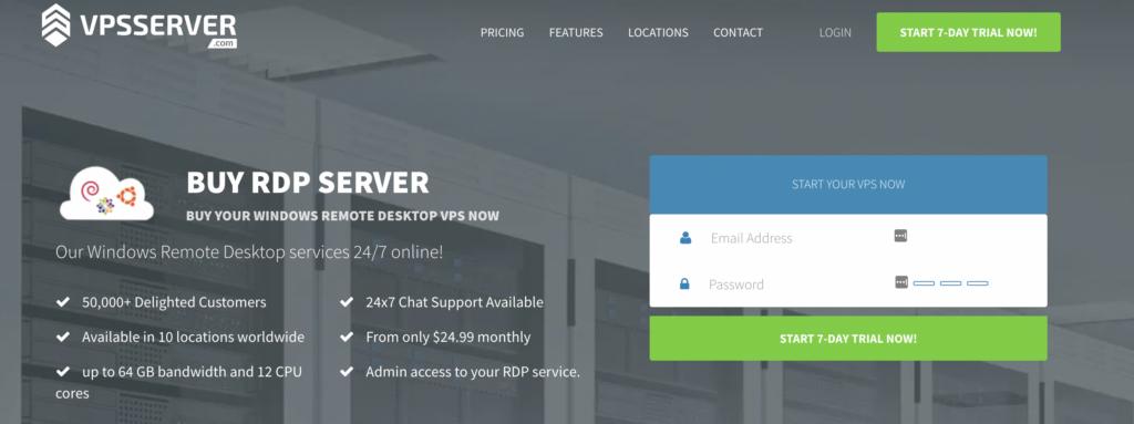 VPSserver free rdp server